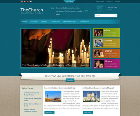 10 Free and Premium Church Joomla Templates | Smashmagz | Smashmagz | Scoop.it