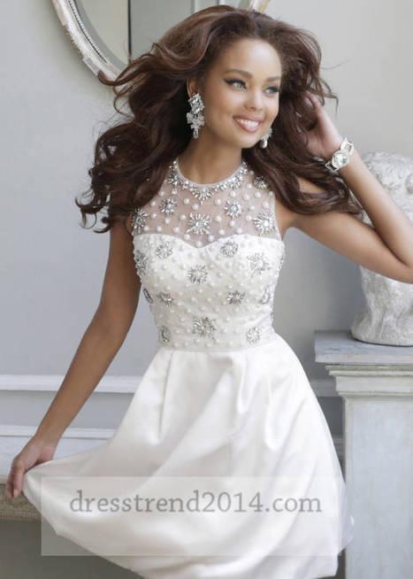 Beaded High Neck Short Homecoming Dresses 2014 White [short white dress 21323] - $225.00 : Cheap Prom Dresses 2014,Affordable Junior Prom Dresses | prom dresses 2014 | Scoop.it