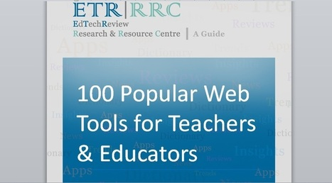 100 Popular (from 2015) Web 2.0 Tools for Teachers and Educators to Explore | educacion-y-ntic | Scoop.it