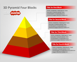 Free 3d Pyramid Four Blocks PowerPoint Template - Free PowerPoint Templates - SlideHunter.com | neha | Scoop.it