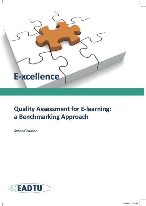 Qualitiy Assurance in e-learning | E-xcellence - Manual | Create, Innovate & Evaluate in Higher Education | Scoop.it