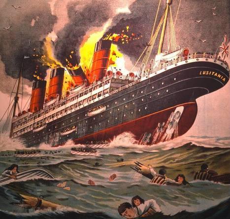 1200 morts en 18 minutes :  Le Lusitania, un paquebot anglais, un 7 mai 1915.   Mon centenaire de la grande guerre   Scoop.it