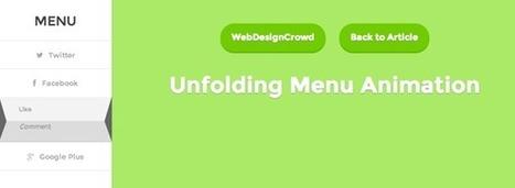 Unfolding Menu Animation ~ WebDesignCrowd.com | Design and Tech | Scoop.it