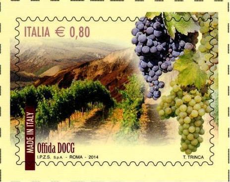 Il vino di Offida diventa un francobollo | Le Marche un'altra Italia | Scoop.it