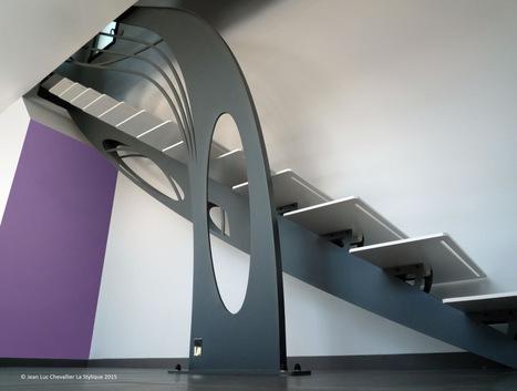 Création d'escalier design sculptural | Escalier Design Mobilier Contemporain de style Art Nouveau | Scoop.it