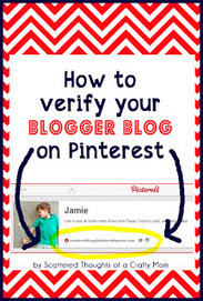 How to verify your Blog on Pinterest! - The Classroom Companion | Scriveners' Trappings | Scoop.it