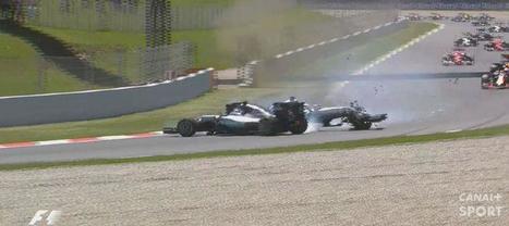 F1 : Le crash entre Nico Rosberg et Lewis Hamilton | Auto , mécaniques et sport automobiles | Scoop.it