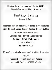 Destiny Dating Dance N Date | A Sense of the Ridiculous | Scoop.it