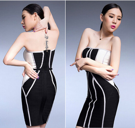 Bandage Dress 2014 Black&white curve matching Party Dresses | Bandage dresses | Scoop.it