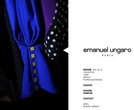 Emanuel Ungaro dévoile son nouveau site web | E-marketing Topics | Scoop.it
