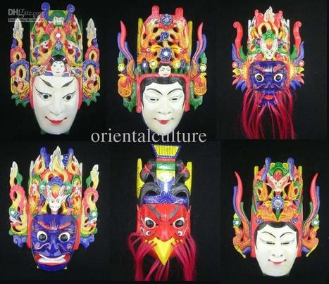 Genuine Chinese Nuo Opera Wall Mask | Una mirada occidental-Teatro Chino | Scoop.it