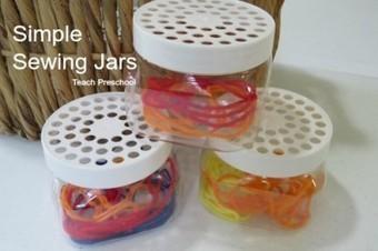 Simple sewing jars | Teach Preschool | Scoop.it