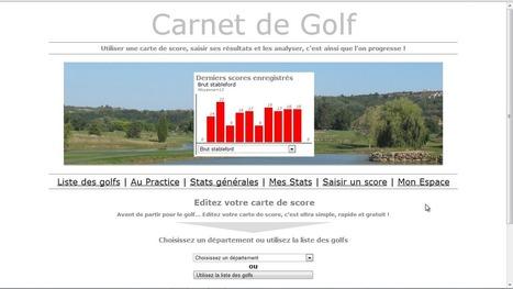 Un site pour créer votre carte de score améliorée gratuitement | Nouvelles du golf | Scoop.it