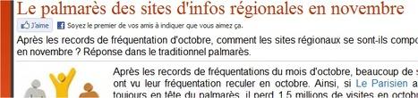 [Je viens de lire] Le palmarès des sites d'infos régionales en novembre   Vicus le blog   Innovation dans les médias locaux   Scoop.it