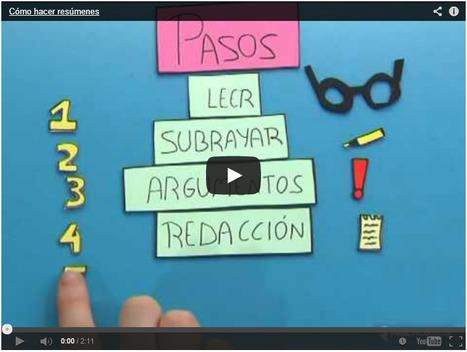 Cómo hacer resúmenes, esquemas, mapas conceptuales, usar reglas nemotécnicas y estudiar | Herramientas TIC | Scoop.it