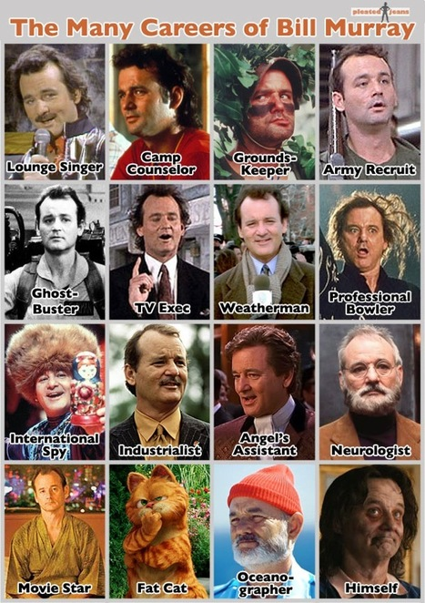 The Many Careers of Bill Murray | Infographics | Scoop.it