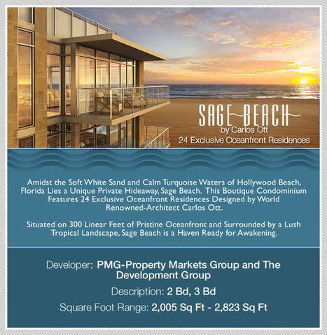 New and Pre-Construction | Sage Beach Hollywood Florida, Hollywood Beach Oceanfront Condos For Sale and Penthouses | CONDOS AND HOUSES FOR RENT IN MIAMI | Scoop.it