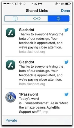 "iOS 7: Using Safari's ""Shared Links"" Capability - The Mac Observer 