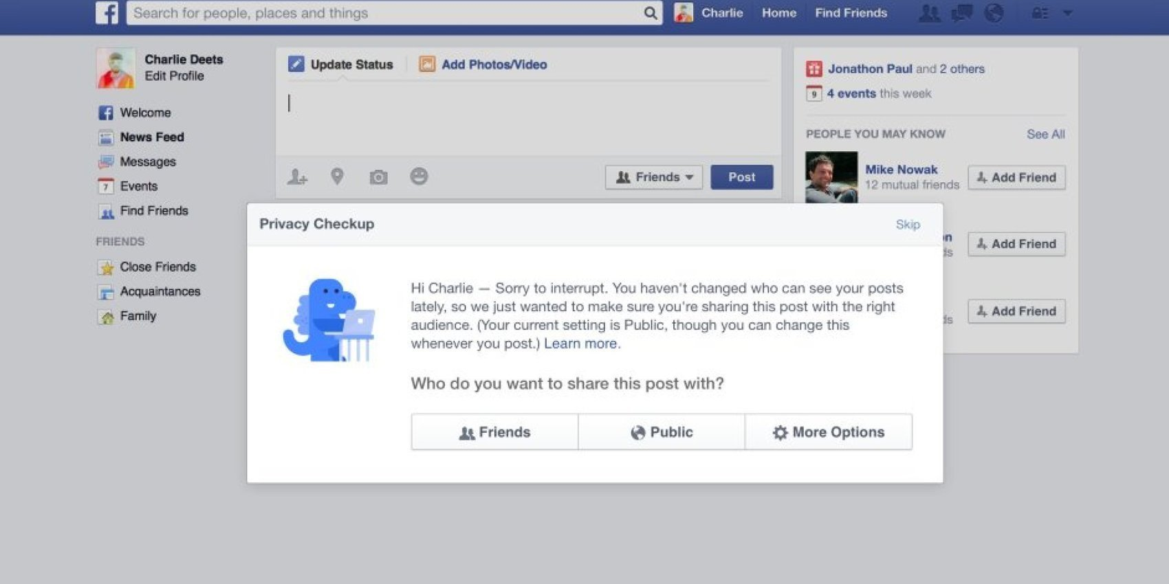 Facebook Made A Big Change To Privacy Settings