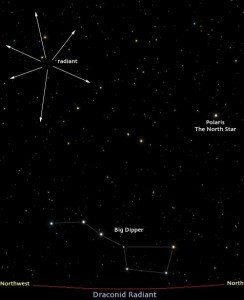 The Draconid Meteor Shower   One-Minute Astronomer   Planets, Stars, rockets and Space   Scoop.it