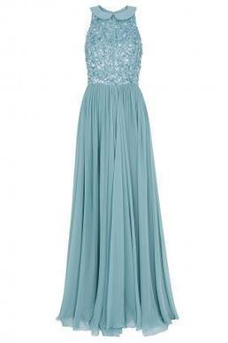Boutique 1 - ELIE SAAB - Blue  Beaded Top Silk Gown | Boutique1.com | Luxury Fashion | Scoop.it