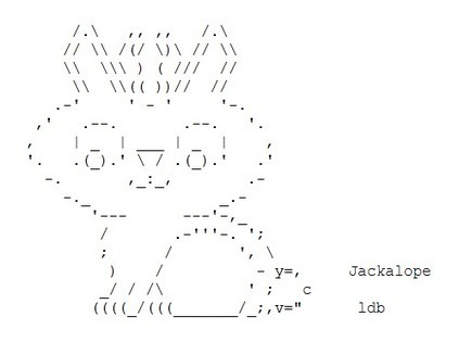 J is for Jackalope | Word Grrls | ASCII Art | Scoop.it