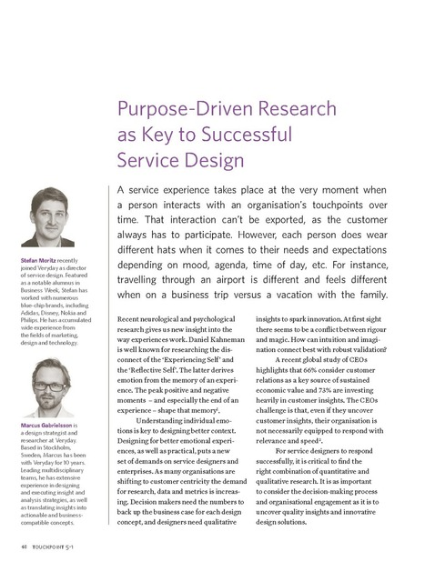 TP05-1P48 - Purpose-Driven Research as Key to Successful Service Design | Expertiential Design | Scoop.it