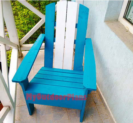 DIY Adirondack Chair | Free Outdoor Plans - DIY Shed, Wooden Playhouse, Bbq, Woodworking Projects | Garden Plans | Scoop.it
