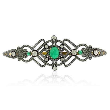 Diamond Emerald Palm Bracelet | Diamond Jewelry | GemcoDesigns | Pave Diamond Palm Bracelets | Diamond Jewelry | GemcoDesigns | Scoop.it