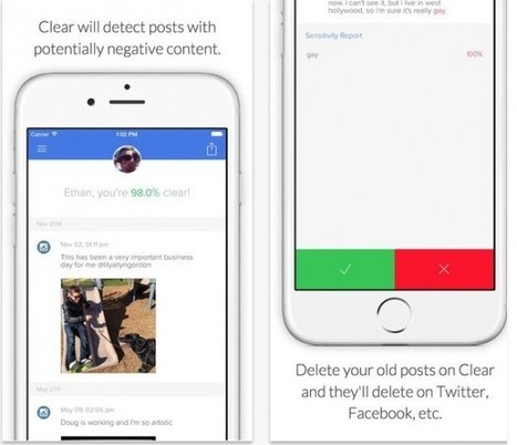 Neue Clear-App löscht peinliche Posts aus der eigenen Social-Media ... - Trends der Zukunft | Moodle and Web 2.0 | Scoop.it