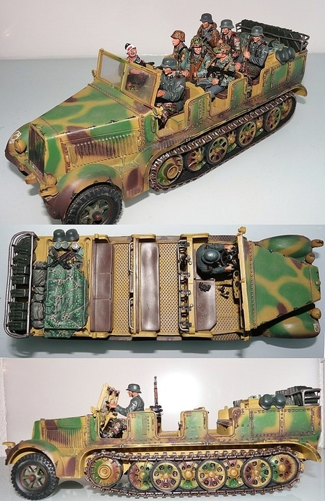 Pictures of CS00517 Sd.Kfz. 7 Prime Mover w/Driver Normandy | Military Miniatures H.Q. | Scoop.it