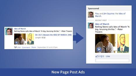 Facebook Studio: New Page Post Ads are now available | Cuistot des Médias Sociaux | Scoop.it