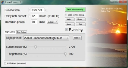 SunsetScreen : ajustant automatiquement la luminosité de votre moniteur | Tout le web | Scoop.it