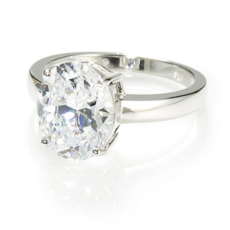 Oval Shape Solitaire Ring with 3.85 carat Brillianite. 925 Sterling Si – Gestalt Couture   Jewelry Trends   Scoop.it