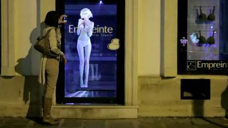 Un mannequin holographique dans une vitrine de lingerie   Tecknolik   Scoop.it