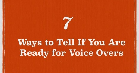 Gary Terzza's Voice-Over Blog UK: 7 Ways to Tell If You Are Ready for Voice Overs | Voice Over Training, Advice and Useful Bits | Scoop.it