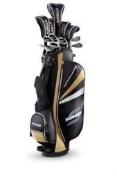Strata Plus Men's Complete Golf Set with Bag, 18-Piece (Left Hand, Gold, Driver, Fairways, Hybrids, Irons, Putter)   Golf Gear   Scoop.it