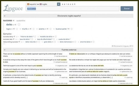 Nuevo Linguee, el diccionario online con más de 200 combinaciones lingüísticas | Las Tics y las ciencias de la informacion | Scoop.it
