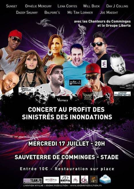 Mercredi 17 Juillet: Concert au profit des sinistrés des inondations à ... | Revue de Presse du Caf des Vallées | Scoop.it