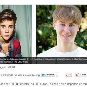 Il dépense plus de 70.000 euros en chirurgie esthétique pour ressembler à… Justin Bieber!   Mais n'importe quoi !   Scoop.it