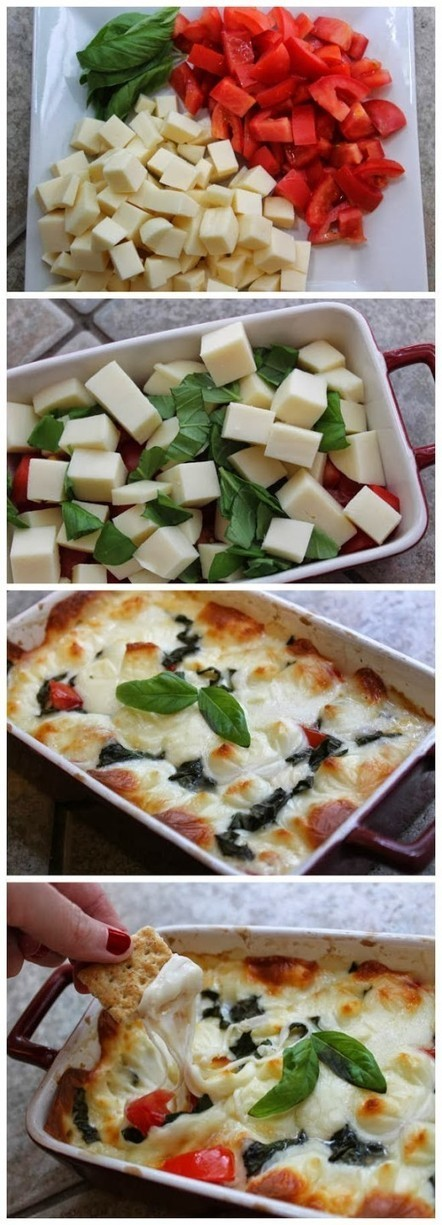 Cheesy Hot Caprese Dip | Food Recipes | Scoop.it