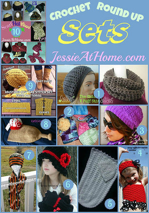 Wednesday Round Up 11/12/14  ~ Sets | Free crochet patterns and tutorials | Scoop.it