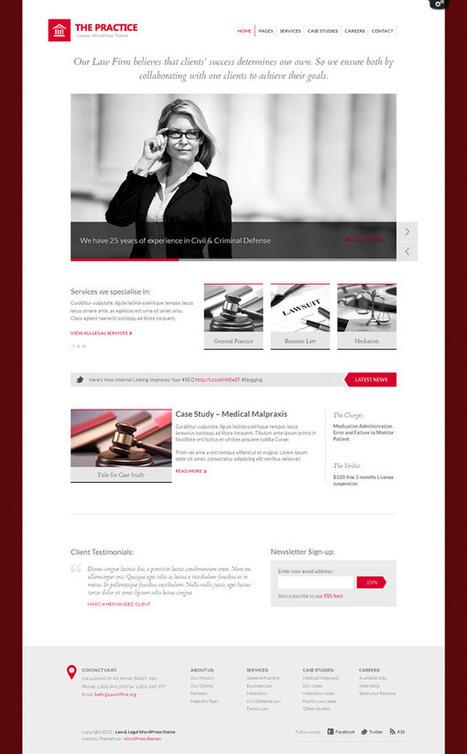 WordPress Theme for Lawyers | Theme | Scoop.it