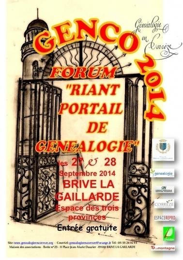4e édition du Forum corrézien de généalogie GENCO 2014 - La Revue française de Généalogie | Histoire Familiale | Scoop.it