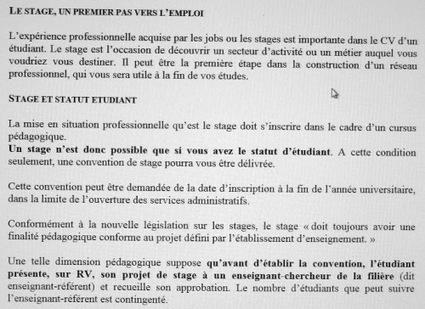 Stage en Licence : quel intérêt ? | Enseignement Supérieur et Recherche en France | Scoop.it