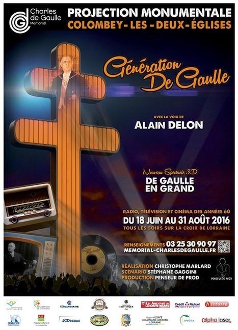 Projection son et lumière mémorial Charles de Gaulle   Escapade en Champagne ® Actualités   Scoop.it
