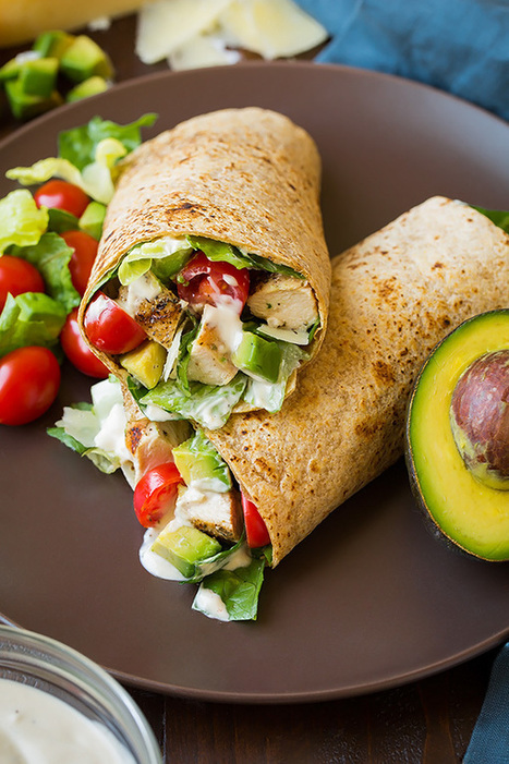 Chicken Avocado Caesar Salad Wrap - Cooking Classy | Passion for Cooking | Scoop.it