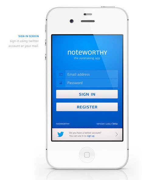 UI Design: Noteworthy app concept | Abduzeedo | Graphic Design Inspiration and Photoshop Tutorials | App Store Marketing ASO | Scoop.it