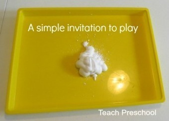 A very simple invitation to sensory play | Teach Preschool | Scoop.it