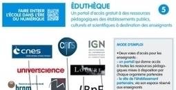 Eduthèque, la banque de ressources numériques pédagogiques gratuites en ligne | UseNum - Ressources pédagogiques | Scoop.it